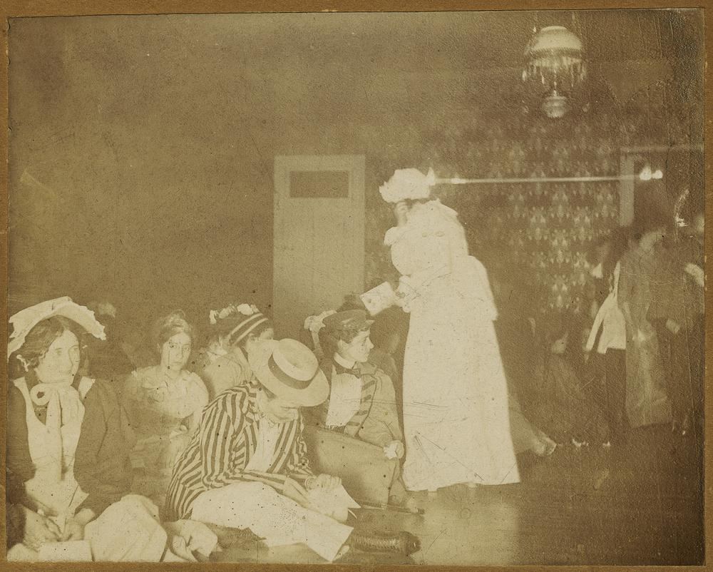 Costumed attendees of the Panthygatric dance, unknown year.