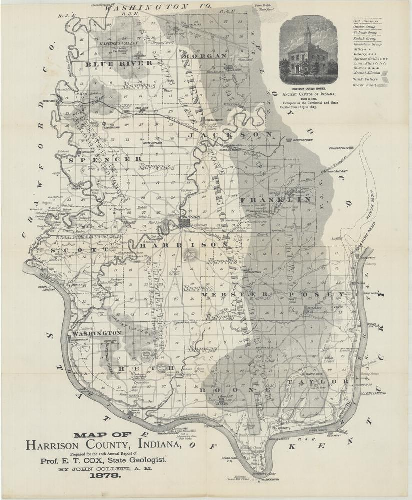 Image Collections Online Map Of Harrison County Indiana