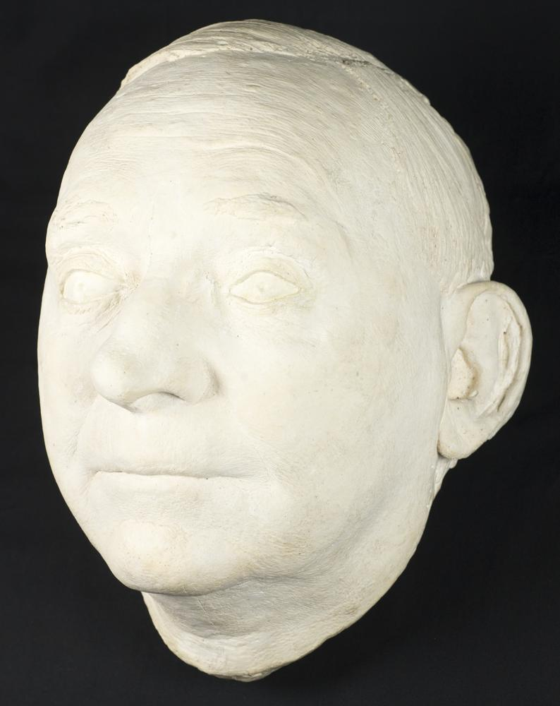 Life mask of IU President William Lowe Bryan by Gordon L. Reagan (Class of 1937)