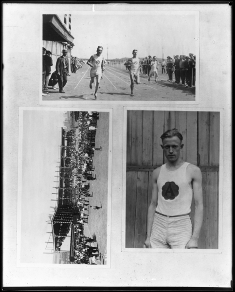 Reproduction of Races, Grandstand, etc. for Labor Day Field Meet Programs