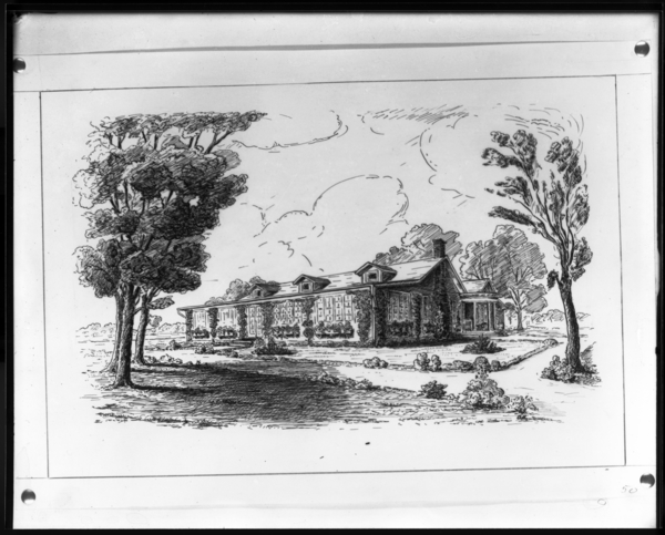 Drawing of Country Club House by Hungleman
