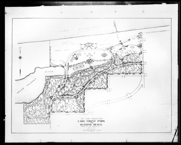 Tracing of Prospective Lake Front Park, (Marquette Park) for Mr. Gleason