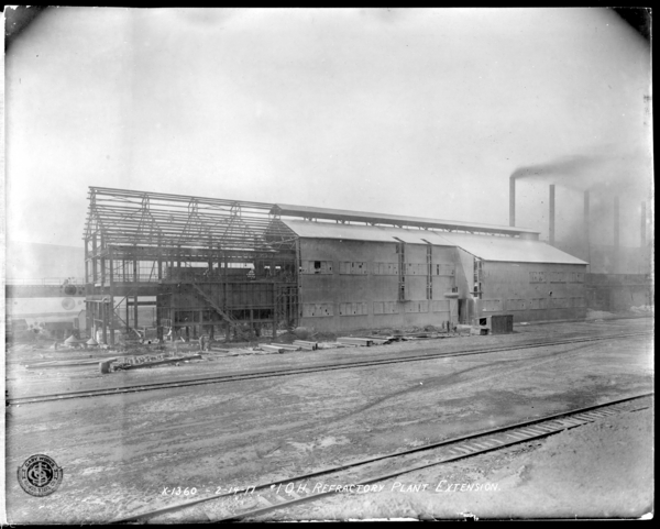 #1 O.H. Refractory Plant, Exterior as Seen from Highline to #2 O.H.