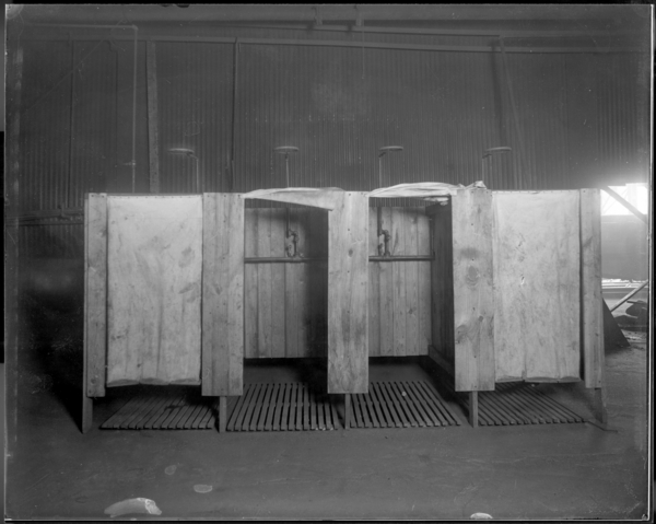 #1 O.H. Temporary Shower Baths, Summer of 1917