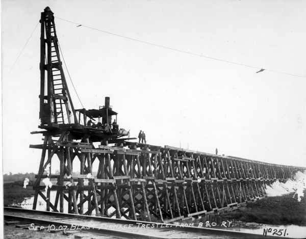 Blast Furnace Trestle from B. and O. Tracks