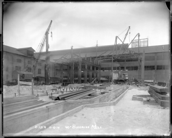 """40"""" Blooming Mill Beginning Steel Structure"""