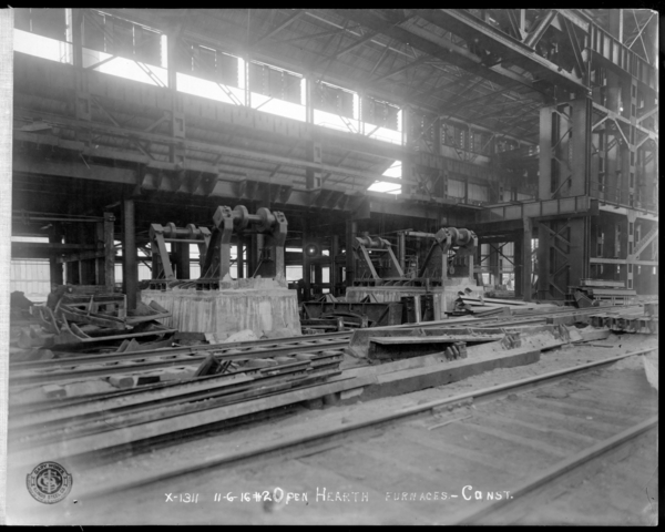 #2 O.H. Showing Brick Work in Interior of Furnaces