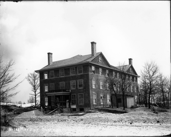 Boarding House, Delaware Avenue and Sixth Avenue, Plaster Put On