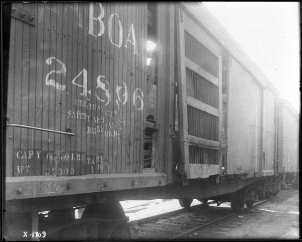 End of Car Looking S.W. at Box Car