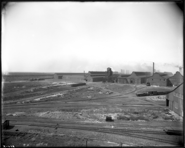 American Sheet and Tin Plate Co., Looking West Toward Tin Plate Plant from #2 Scrap Yard Structure