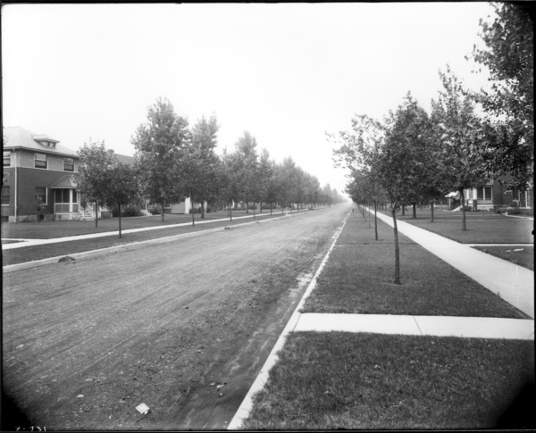 Town, Van Buren Street Looking North from 8th Avenue