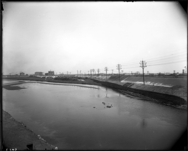 Calumet River. View Looking South Toward Lakeshore from N. Band at S. End