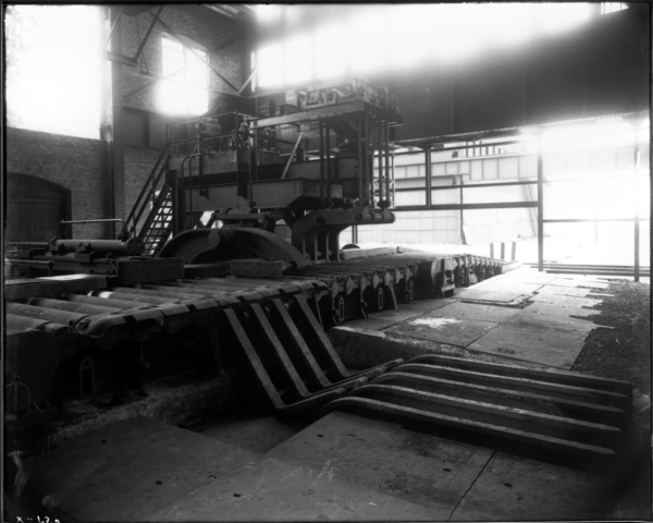 Slab Mill View Looking S.W. Toward Push All and Stop at Sheer Delivery Table
