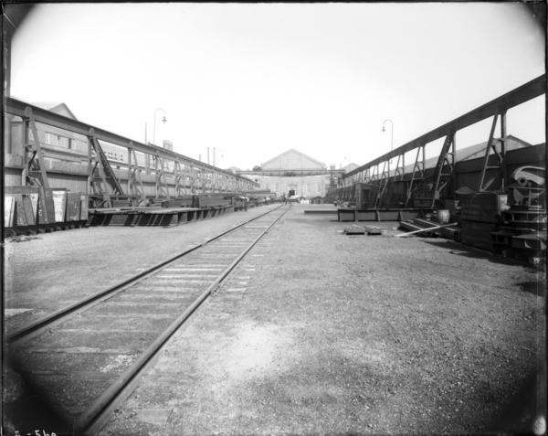 View from West End of Store Yard Looking East