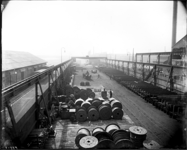 View from 2nd Floor of Storehouse Looking West in Store Yard