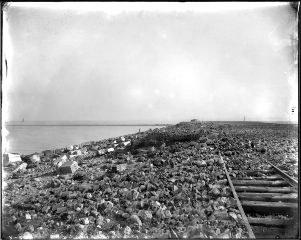 Lake Dump. View on Top of West End of Cinder Bank Looking East Along Track