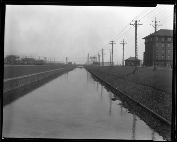 View of Grand Calumet River Looking East from Broadway