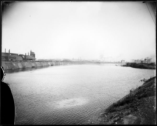 Calumet River Looking S.W. from Mouth of Viaduct