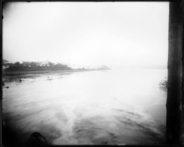 Calumet River Looking S.W. from Mouth of Viaduct Under R.R. Tracks