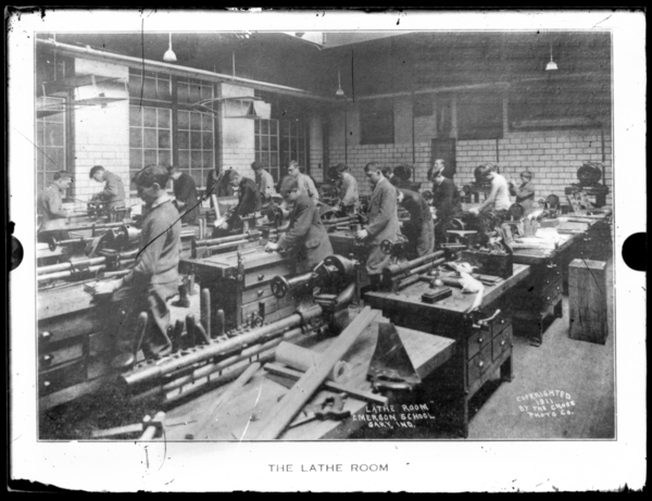 The Lathe Room, Emerson School