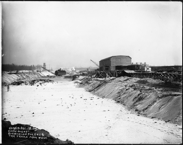 Coke Ovens Excavation For Gas and Tar Tanks From West