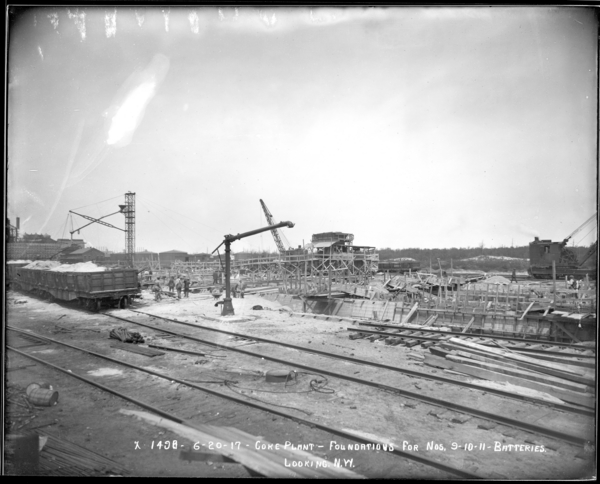 Coke Plant, Foundations for Batteries #9 and 10, Looking N.W.
