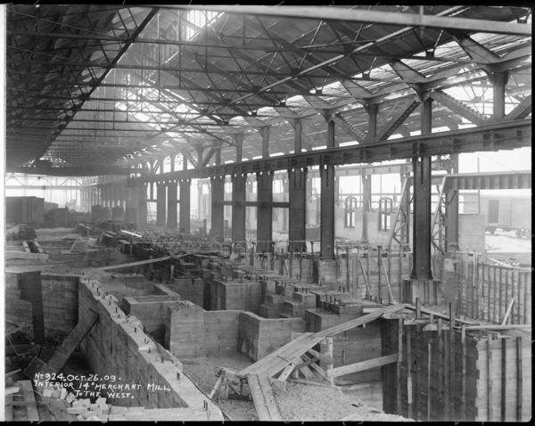 """Interior 14"""" Merchant Mill To The West"""