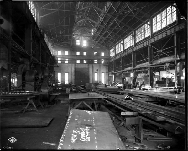 Interior of Boiler Shop Looking West