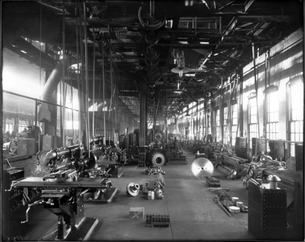 Gen. View Looking West of Tool Room in Machine Shop