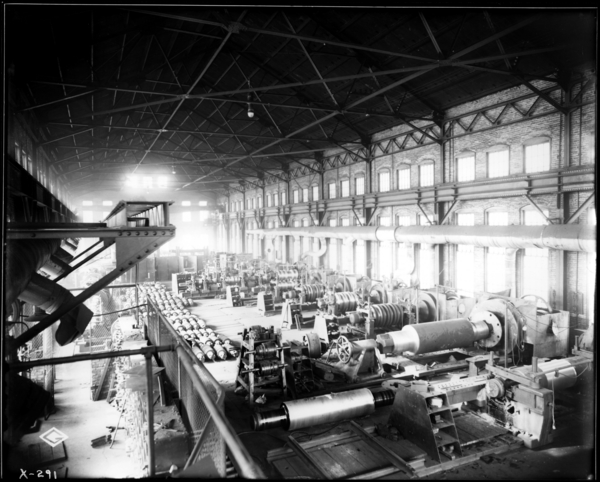Gen. View of Interior of Roll Shop, Looking N.W.