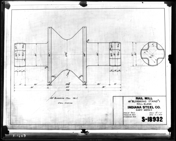 Rail Mill Tracing of Stand-#1 Roll