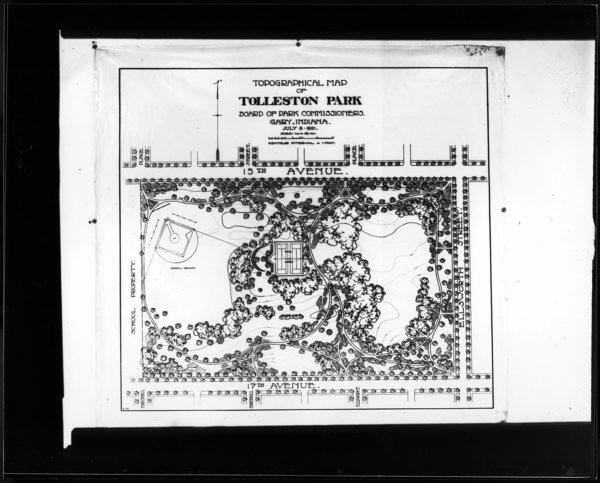 Topographical Map of 15th Ave. Park, Tolleston