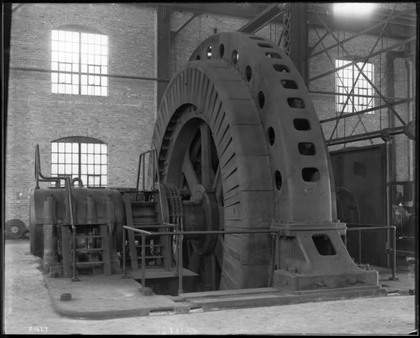 "Right Angle View of 7,000 H.P. Induction Motor at 160"" Plate Mill"