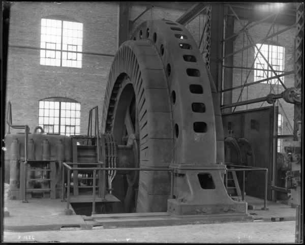 "Right Angle View of 7,000 H.P. Induction Motor at 160"" Plate Mill, Looking E."
