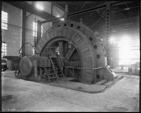 "Right Angle View of 7,000 H.P. Induction Motor at 160"" Plate Mill, Looking S.E."