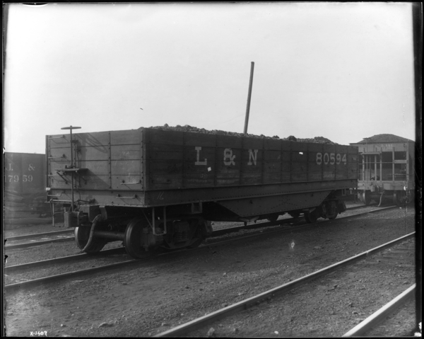 Coke Plant. 1st Car of Coal from Corp.'s New Mine in Kentucky, Ground Level