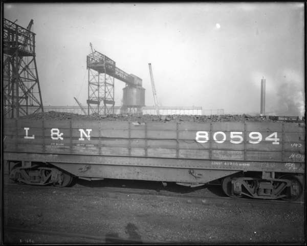 Coke Plant. 1st Car of Coal from Corp.'s New Mine in Kentucky, Side View