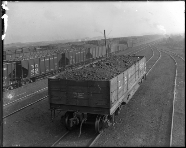 Coke Plant. 1st Car of Coal from Corp.'s New Mine in Kentucky