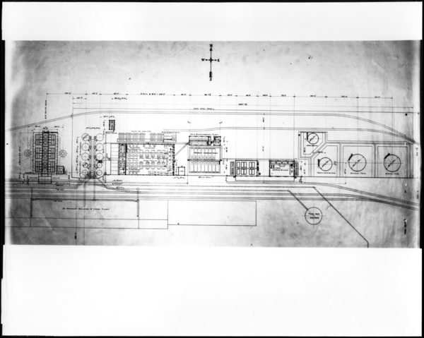 Copy. Full View of Tracing of Benzol Plant Plan View
