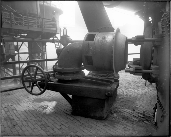 View of Geesman-Wilander Gas Burner for Blast Furnace Stove
