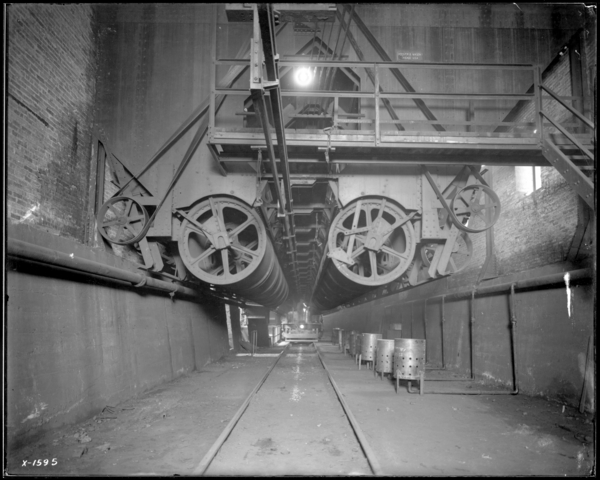 Blast Furnaces, Looking N., Scale Car at Skip Hoist