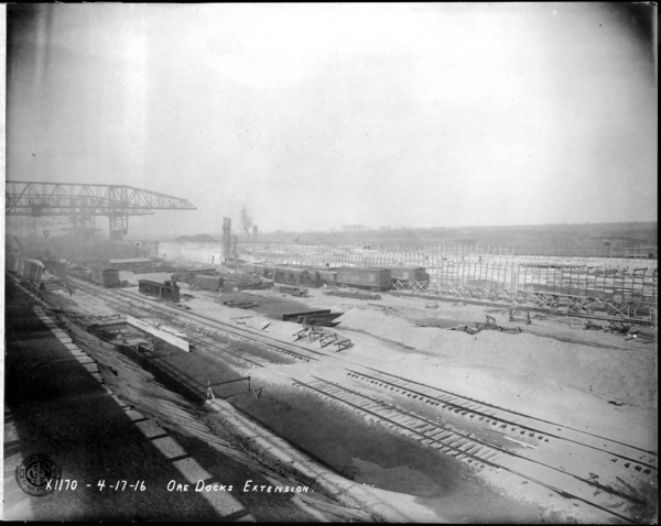 Looking N.E. at Ore Dock Extension