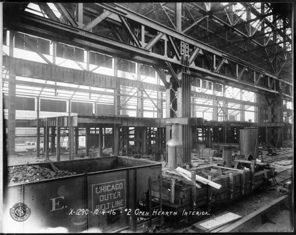 #2 O.H. Looking N.W. at Interior Structure from Furnaces and Changing Floor