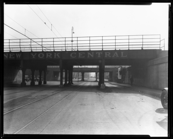 View Looking South on Broadway from N.Y.C. Tracks