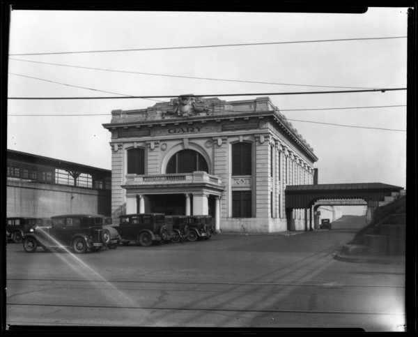 New York Central Railroad Station at Gary