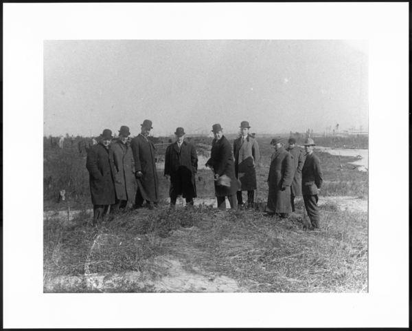 Photograph, Groundbreaking, Sheet and Tin Mill, 2nd from left is Harry A. Dalby