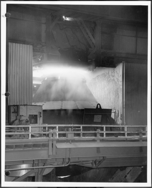 Photographs, Basic Oxygen Furnace Shop, USS Gary Works