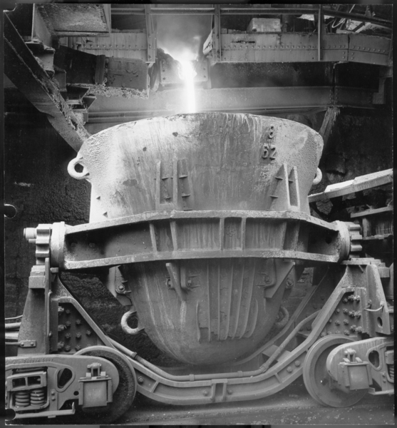 Photograph, Molten Slag Pouring, USS Gary Works