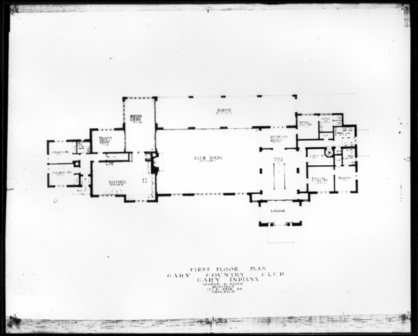 Plans of Gary Golf Club House (Mr. Gleason)