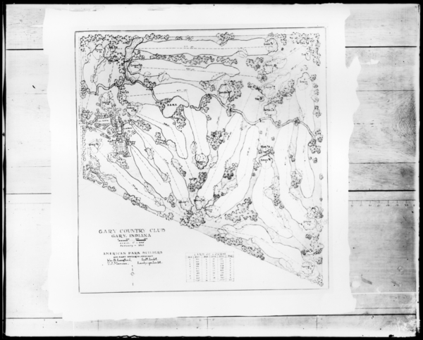 US Steel Photograph Collection Contour Map Of Gary Golf Club - Us steel gary works map